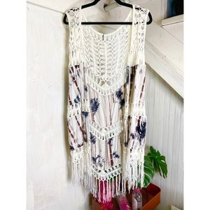 NWT Knit and tie-dye vest